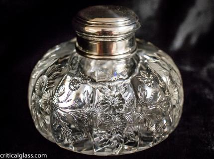 Exceptionally Unusual Hoare Inkwell with Tiffany Silver Top