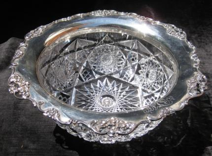 Wonderful Gorham Sterling and Imperial Cut Glass Bowl – SOLD