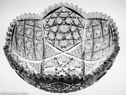 Incredibly Detailed Hobstar Cluster Bowl – SOLD