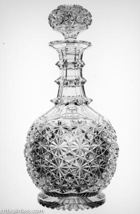 Hawkes Russian Decanter with Pattern Cut Stopper