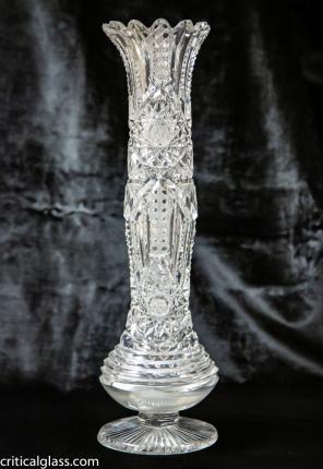 Unique, Tall Vase in Libbey's Ellsmere Variation – SOLD