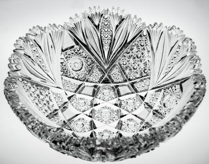 Gorgeous Thick Bowl with Feather and Russian Details – SOLD