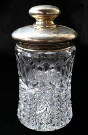Handsome Meriden Alhambra (Greek Key) Humidor w/ Silver Lid