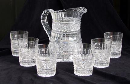 RAREST Aberdeen by Jewel Cut Glass Water Set – SOLD