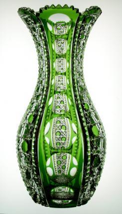 Incredible Dorflinger Green to Clear Montrose Vase – SOLD