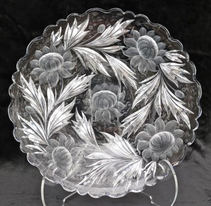 Extremely Rare Hawkes Gravic Dahlia 15 1/2″ Charger – SOLD