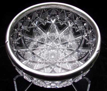 Expanding Star style Bowl with Sterling Rim