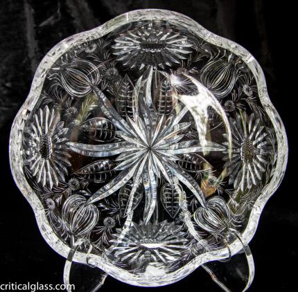 Extremely Unusual & High Quality Hawkes Gravic Bowl