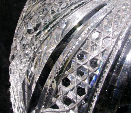 Dorflinger Glass Shapes and Sizes Red & Blue Dorflinger