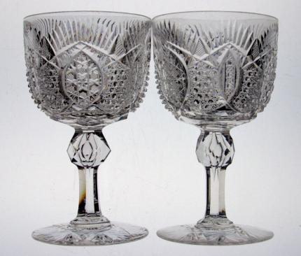 Intensely Cut Straus Wine Glass – SOLD