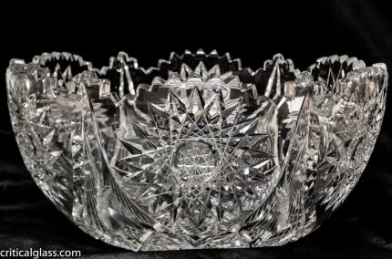 Extremely Thick, Clear Dorflinger Essex Punch Bowl – SOLD