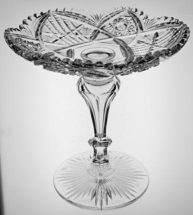 Excellent Large Libbey Corona Compote or Cake Plate