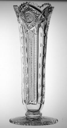 Large, Rare Vase with Pattern Cut Base – SOLD