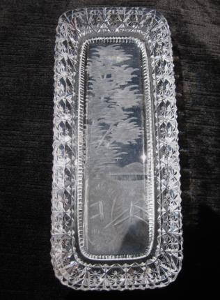 Adorable Hawkes Engraved Scene Pen or Butter Tray – SOLD