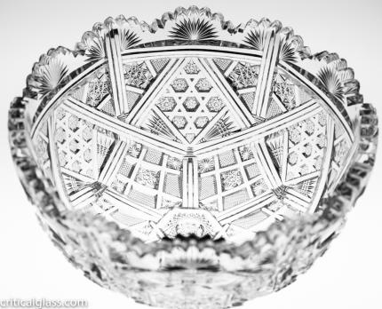 Unusual and Detailed Pitkin & Brooks Clear Channel Bowl