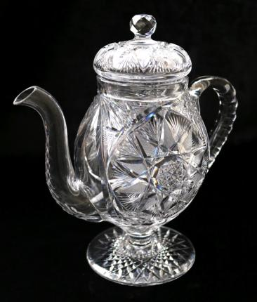Meriden Coffee Pot – a Cut Glass Rarity