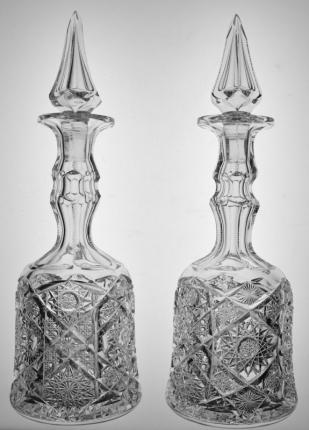 Rare Pair of Steeple Stopper Kelly & Steinman Roman Decanters – SOLD