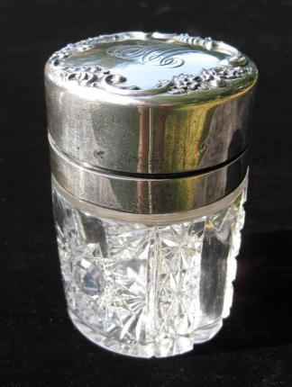 Cute J. Hoare Silver Mounted Sachet Jar – SOLD