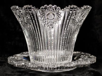 Unusual Ice Bucket and Under Plate Libbey Blank – SOLD