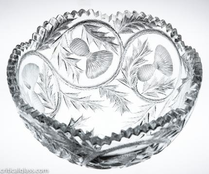California Cut Glass Thistle Bowl