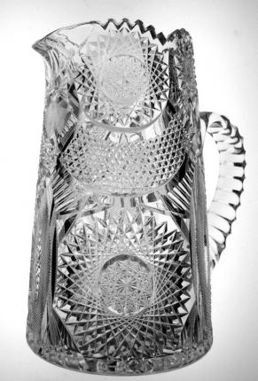 Gorgeous Niagara Cut Glass Pitcher With Many Motifs – SOLD