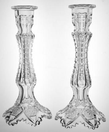 Extremely Rare Libbey Empress Candlesticks – SOLD