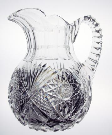 Beautiful, Heavy Cut Glass Pitcher – SOLD