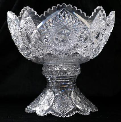 Rare Tiffany Pattern Magnificent Punch Bowl