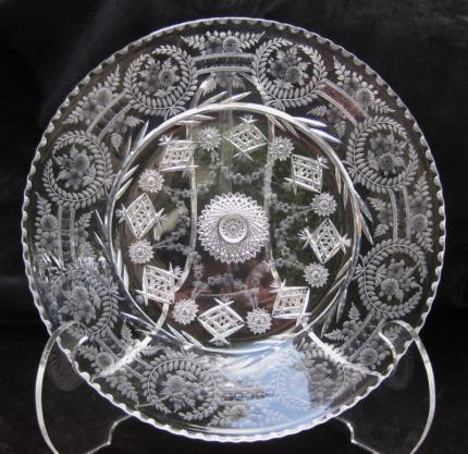 Elegant Libbey Cut & Engraved 12″ Plate – SOLD