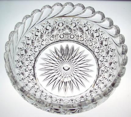Enormous Hawkes Russian and Swirl Bowl – SOLD