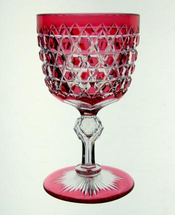 Gorgeous Dorflinger Cranberry Cut to Clear Wines – SOLD