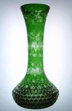 Museum Worthy Dorflinger Green to Clear Vase – SOLD